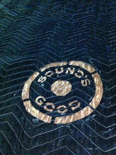 Sound's Good Stencil on Sound Blanket