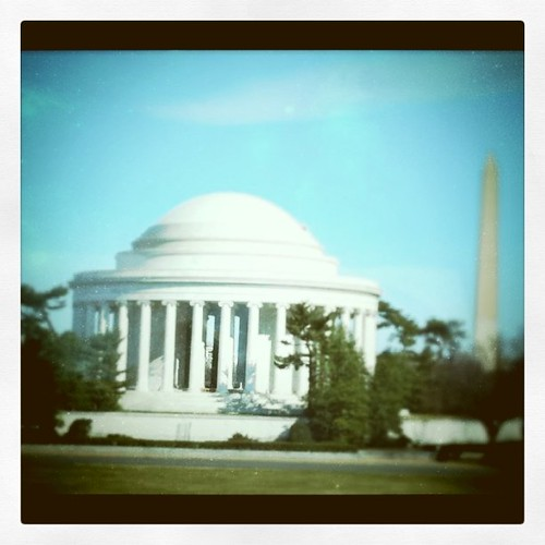 The Jefferson Memorial in Washington, DC with #tiltshift effect. by ObieVIP