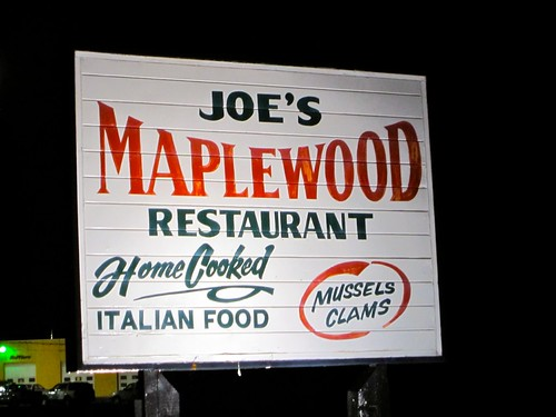 Joe's Maplewood Restaurant Home Cooked Italian Food Sign