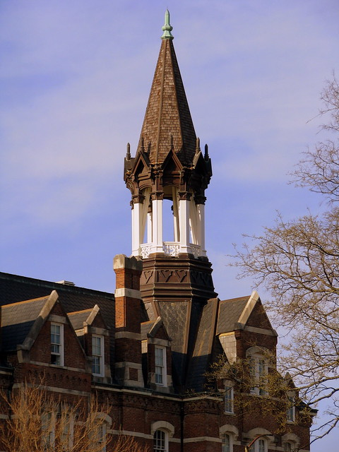 The ornate tower of Fisk's Jubilee Hall