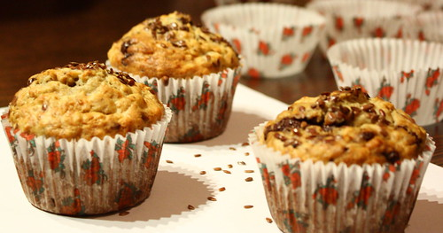 muffins banane ovaz ciocolata