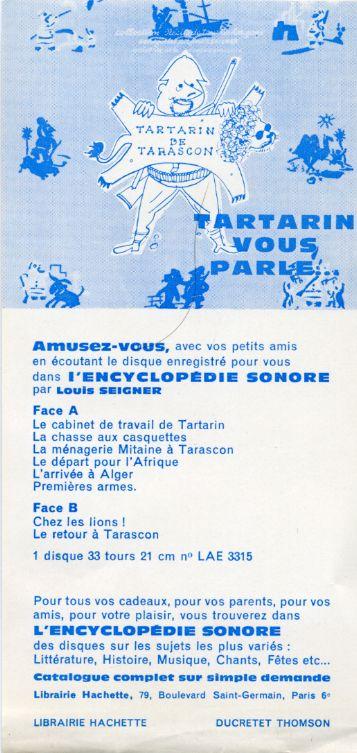 Tartarin de Tarascon, by Alphonse DAUDET_Disque