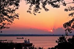 Don't Dream It's Over (Rudy Sempur) Tags: sunset sea indonesia afternoon borneo tanker rayoflight kalimantan balikpapan supershot eastkalimantan eastborneo makassarstrait