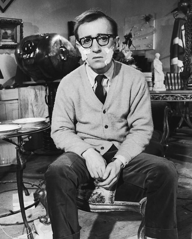 plastered woody allen
