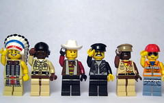 The Village People (swindeller) Tags: lego minifig minifigs rockband villagepeople minifigures legocustom