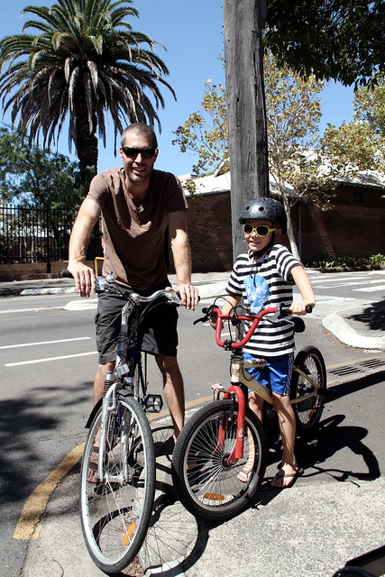 cycle chic kid & dad in surry hills