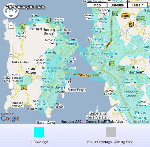 Yes 4G Network Coverage In Penang