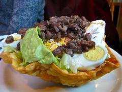 Beef Taco Salad (mao5000) Tags: food downtown wa mexicanrestaurant seattlemunicipaltower bebasamigos
