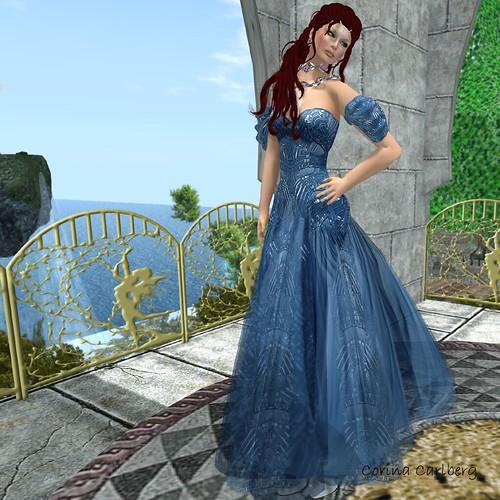 Vero Modero Geo Gown Blue