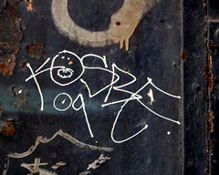In SoHo (LoisInWonderland) Tags: newyorkcity graffiti soho tags handstyle kosbe