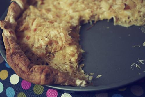 sauerkrautkuchen mit ananas