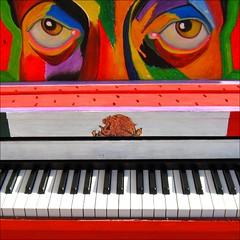 Mexican Blues for a Piano ... (Dominique Guillochon) Tags: california light music usa art colors key folkart shadows unitedstates couleurs piano ivory mexican arcades colori ebony sanjuancapistrano musique ombres mexicanfolkart paintedpiano vanagram mexicanbluesforapiano