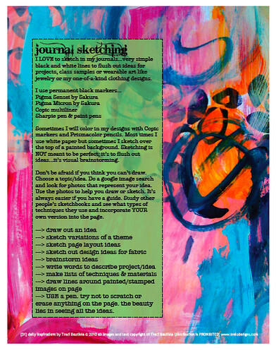31 daily inspriations art journaling sample pdf workbook page