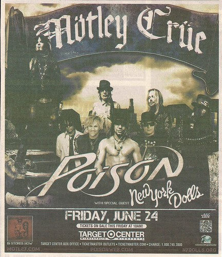 06/24/11 Motley Crue/Poison/New York Dolls @ Target Center, Minneapolis, MN (ad)