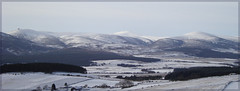 View towards Clach na Ben  and  the Cairngorms from Scolty Hill, Banchory . Aberdeenshire. (Hilary Gaunt) Tags: snow mountains aberdeenshire cairngorms banchory cairngormsnationalpark scottishhighlands scoltyhill scottishwinter