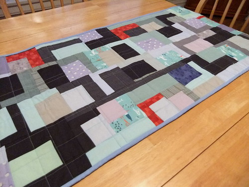 table runner from scraps