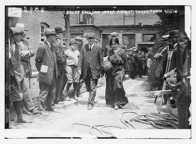 Becky Edelson [i.e., Edelsohn] under arrest -- Tarrytown  (LOC)