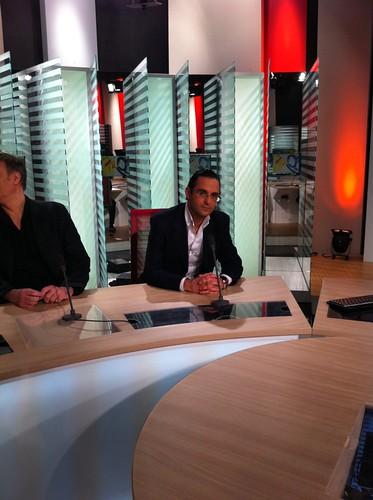 Sur le plateau de LCI - TF1 avant le débat sur le livre numérique by Arash Derambarsh