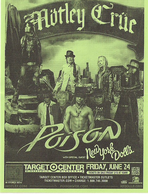 06/24/11 Motley Crue/Poison/New York Dolls @ Minneapolis, MN (Handbill)