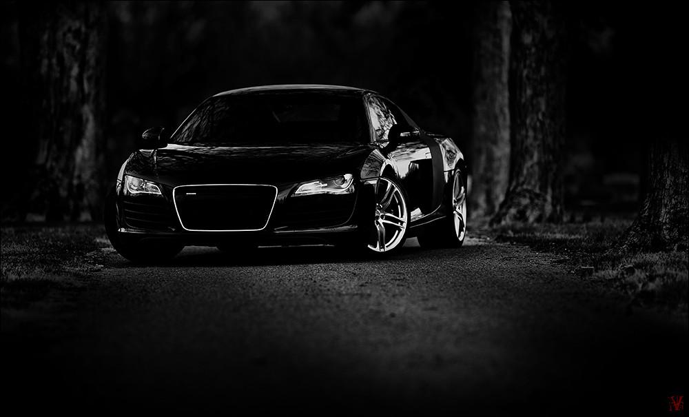 черно белое  машин