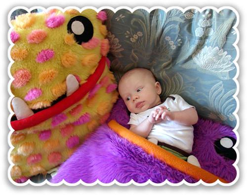pillow eats baby