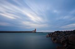 Red Lighthouse (Rocco V.A.) Tags: longexposure seascape landscape panorami ischiaporto seawaves isoladischia canonef1740f4lusm canoneos450d hoyandx400 panoramafotogrfico seamotion mygearandme mygearandmepremium portodiischia ischialighthouse