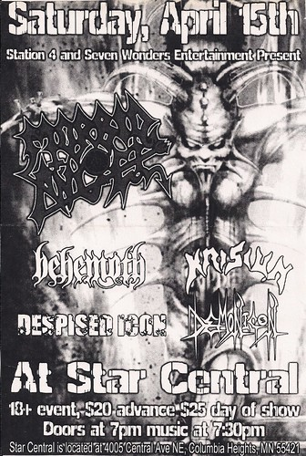 04/15/06 Morbid Angel/Behemoth/Krisiun/Despised Icon/Demonicon @ Columbia Heights, MN