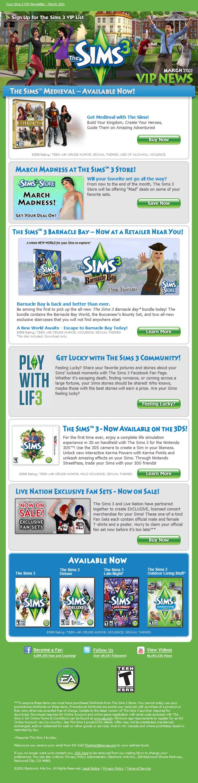 Newsletter de Março 2011 - The Sims 3 VIP 5554329283_2a97e18c5f_o