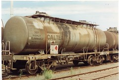 VTQF 701 L Tottenham 10/1995 (booksvic) Tags: tank railway vr wagons vline