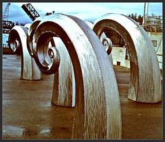 Ballard locks metal sculpture () Tags: ocean seattle bridge sea people sculpture art industry tourism nature wet public water outdoors photography photo washington cool interesting fishing artwork pacific northwest united famous scenic picture tourist photograph oceanside sound metalwork magnolia ballard everyone publicart states popular likes puget attraction ballardlocks