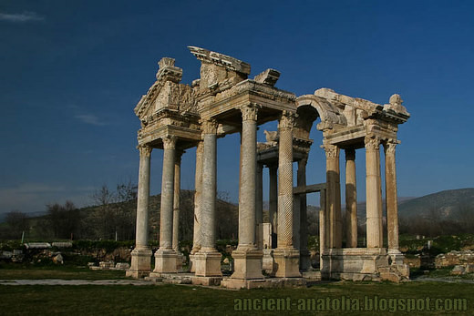 The double tetrapylon at Aphrodisias