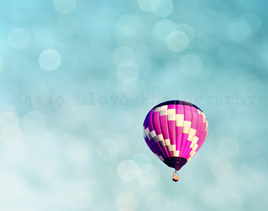 Purple Hot Air Balloon