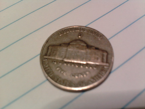 I got this 1944 wartime nickel from a vending machine today. (03/29/2011)