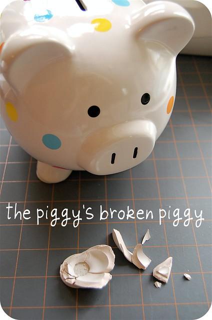 broken piggy