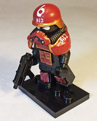Battle Scout (CrazyBrck) Tags: lego 40k warhammer 40 custom 000 minifigure wh40k brickarms brickforge crazybrick fortykay
