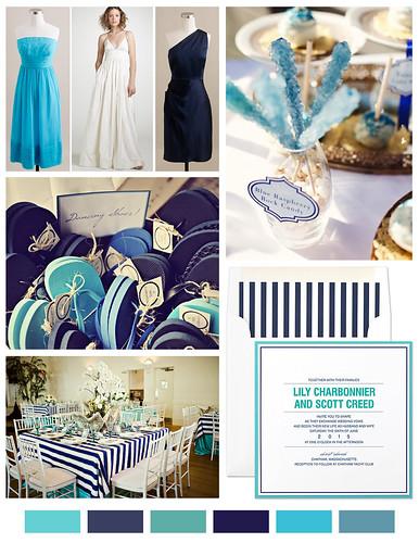 Aqua and Navy Wedding Inspiration