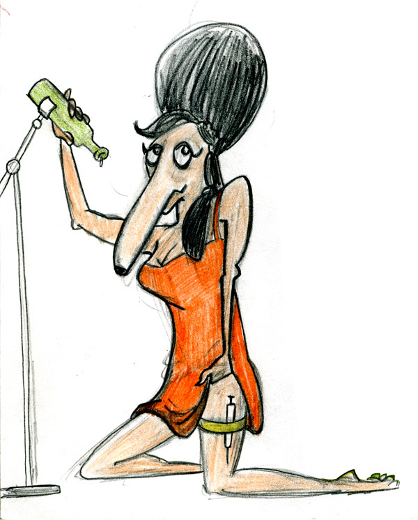 Amy_Winehouse_Caricature_Sketch_04