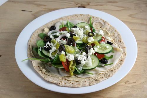 Mediterranean-Style Turkey Wrap