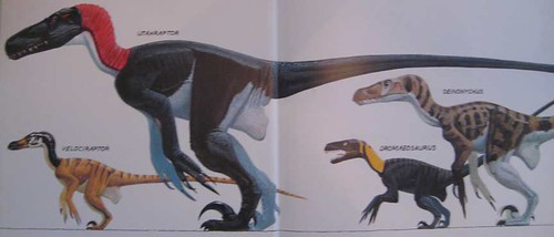 Raptors! The Nastiest Dinosaurs - Endpaper Paintings by Dave Peters