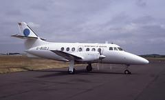 G-BUDJ. Thai Dept of Civil Aviation Jetstream 3212 (Ayronautica) Tags: gbudj 960 thaideptofcivilaviation prestwick egpk pik aviation scanned turboprop ayronautica june 1992 britishaerospacejetstream3212