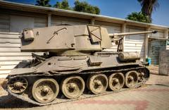 assault gun (2) (maskirovka77) Tags: israeldefenseforces idf museum idfmuseum tanks m48 outdoors hdr armoredcar artillery antiaircraft armoredpersonnelcarrier bridgingequipment