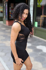 Godess in Black Dress (California Will) Tags: edna latina beauty beautiful hermosa blackdress sheer ybor tampa florida fl mature