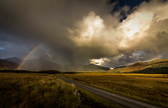 There was the biggest pot of gold at the end of this. (Ian Emerson) Tags: rainbow clouds storm stormy sunlight rain landscape scotland mull mountains hills outdoor colourful colours road canon 1018mm wideangle moody omot