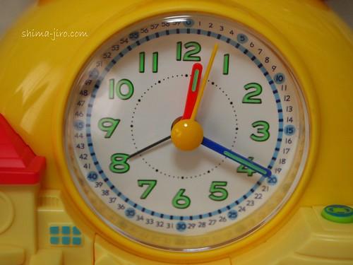 目覚ましコラショ 時計の文字盤