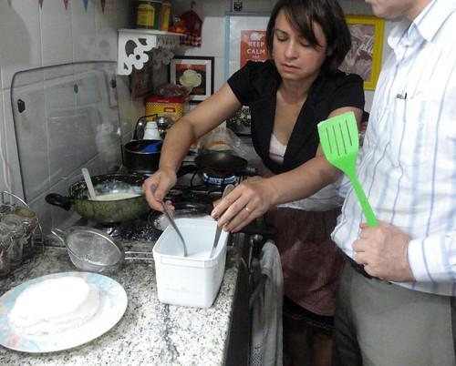 Fazendo tapioca