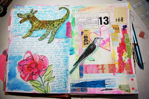 Art journaling in January