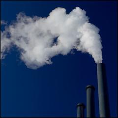 1 out of 3 (Michael.DK) Tags: blue chimney white copenhagen steam powerplant top20blue dongenergy hcrstedsvrket