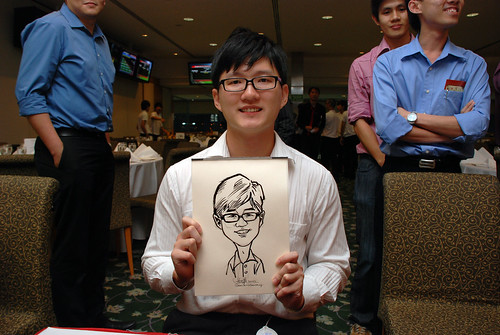 caricature live sketching for Thorn Business Associates Appreciate Night 2011 - 11