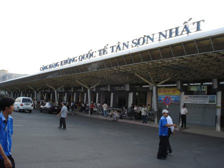 The entrance to Tan Son Nhat airport, Ho Chi Minh, Vietnam
