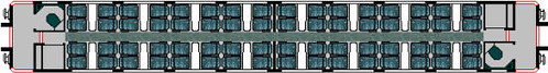 Charter train - Standard Class Carriage, seating plan (UK)
